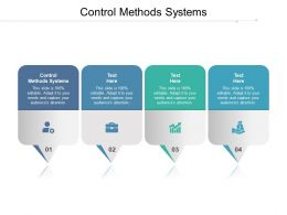 Control Methods Systems Ppt Powerpoint Presentation Inspiration Cpb