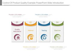 Control Of Product Quality Example Powerpoint Slide Introduction