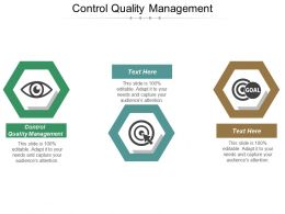 Control Quality Management Ppt Powerpoint Presentation Ideas Brochure Cpb