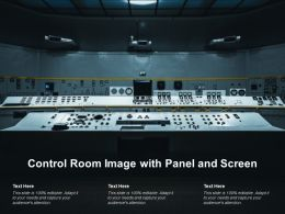 Control Room Image With Panel And Screen