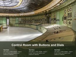 Control Room With Buttons And Dials