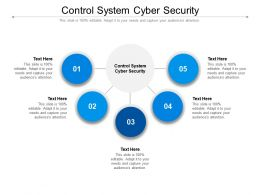 Control System Cyber Security Ppt Powerpoint Presentation Portfolio Example Cpb