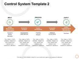 Control System Evaluation Ppt Powerpoint Presentation Model Guide