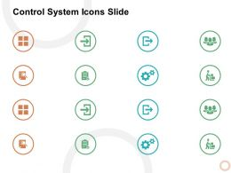 Control System Icons Slide Gears L469 Ppt Powerpoint Presentation Design
