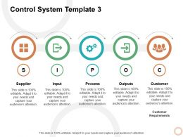 Control System Process Ppt Powerpoint Presentation Icon Example File