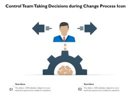 Control Team Taking Decisions During Change Process Icon