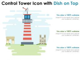 Control Tower Icon With Dish On Top