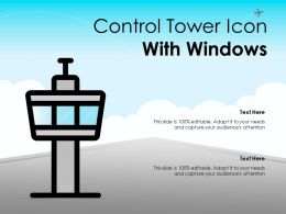 Control Tower Icon With Windows