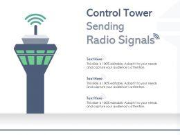 Control Tower Sending Radio Signals