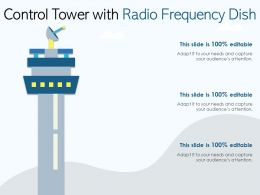 Control Tower With Radio Frequency Dish