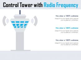 Control Tower With Radio Frequency