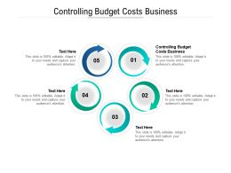 Controlling Budget Costs Business Ppt Powerpoint Presentation Layouts Show Cpb