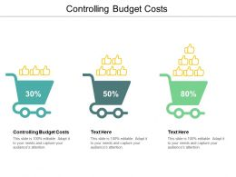 Controlling Budget Costs Ppt Powerpoint Presentation Visual Aids Pictures Cpb
