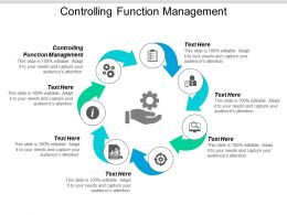 Controlling Function Management Ppt Powerpoint Presentation Pictures Demonstration Cpb