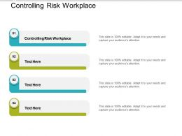 Controlling Risk Workplace Ppt Powerpoint Presentation Gallery Pictures Cpb