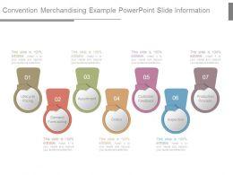 Convention Merchandising Example Powerpoint Slide Information