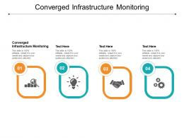 Converged Infrastructure Monitoring Ppt Powerpoint Presentation Infographic Template Graphics Pictures Cpb