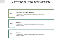 Convergence Accounting Standards Ppt Powerpoint Presentation Influencers Cpb