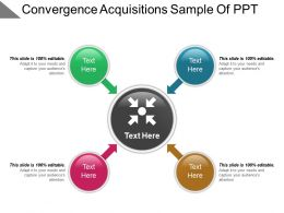 Convergence Acquisitions Sample Of Ppt