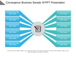 Convergence Business Sample Of Ppt Presentation