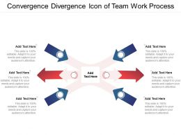 Convergence Divergence Icon Of Team Work Process