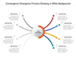 Convergence Divergence Process Showing In White Background