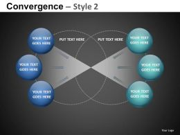 Convergence Style 2 Powerpoint Presentation Slides db