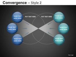 Convergence Style 2 Powerpoint Presentation Slides db