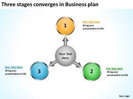 converges in business powerpoint presentation plan Circular Spoke Diagram Slides