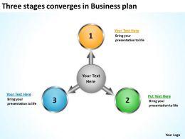 converges in business powerpoint presentation plan Circular Spoke Diagram Slides