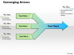 Converging Arrows Powerpoint Template Slide