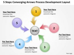 converging arrows process development layout Circular Flow PowerPoint templates