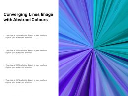 Converging Lines Image With Abstract Colours