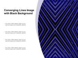 Converging Lines Image With Black Background