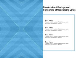 Converging Lines Image With Blue Background