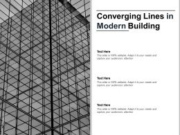 Converging Lines Image With Building