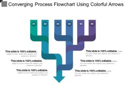 Converging Process Flowchart Using Colorful Arrows