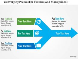 Converging Process For Business And Management Flat Powerpoint Design