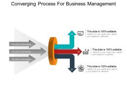 Converging Process For Business Management Example Of Ppt