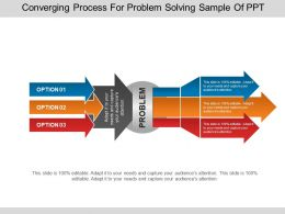 Converging Process For Problem Solving Sample Of Ppt