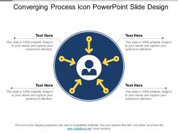 Converging Process Icon Powerpoint Slide Design
