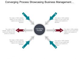 Converging Process Showcasing Business Management Opportunities Ppt Slide