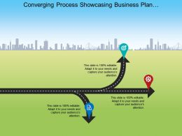 Converging Process Showcasing Business Plan Development Ppt Design