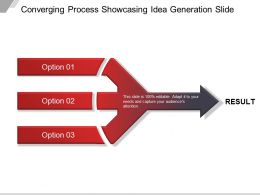 Converging Process Showcasing Idea Generation Ppt Example