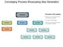 Converging Process Showcasing Idea Generation Ppt Example File