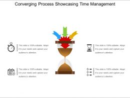 Converging Process Showcasing Time Management Ppt Examples