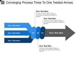 Converging Process Three To One Twisted Arrows
