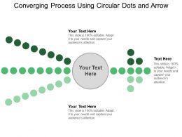 Converging Process Using Circular Dots And Arrow