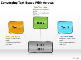 converging text boxes with arrows Circular Spoke Process PowerPoint Slides