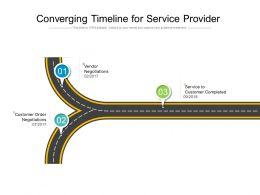 Converging Timeline For Service Provider